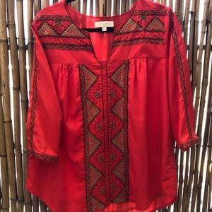 Small Anthropology beaded top